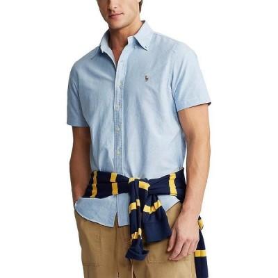 ラルフローレン メンズ シャツ トップス Solid Oxford Short-Sleeve Woven Shirt BSR Blue