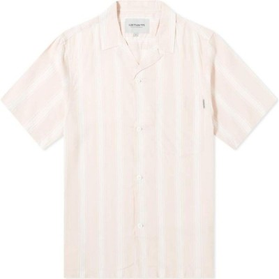 カーハート Carhartt WIP メンズ 半袖シャツ トップス Chester Stripe Vacation Shirt Chester Stripe/Powdery