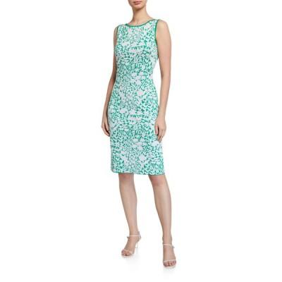 セント ジョン コレクション レディース ワンピース トップス Two-Tone Floral Jacquard Dress