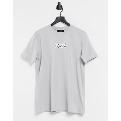 イルサルト Il Sarto メンズ Tシャツ トップス Box Script T-Shirt Grey グレー
