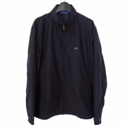 【中古】クロコダイル CROCODILE ドライビングジャケット ブルゾン 長袖 L ネイビー 紺 撥水加工 1604-11402 メンズ