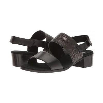 Munro ムンロ レディース 女性用 シューズ 靴 ヒール Kristal - Black/Black Lizard Trim