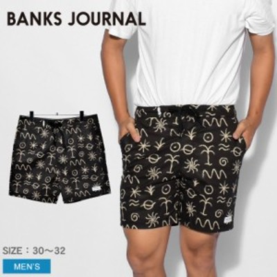 【ゆうパケット可】バンクス ジャーナル ハーフパンツ メンズ サンフォレスト ボードショーツ ブラック 黒 BANKS JOURNAL BS0268 パンツ