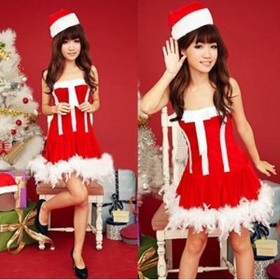 X'mas クリスマス衣装 サンタクロース コスプレ クリスマス サンタコス コスチューム セクシー パーティー 変装 仮装 レディース