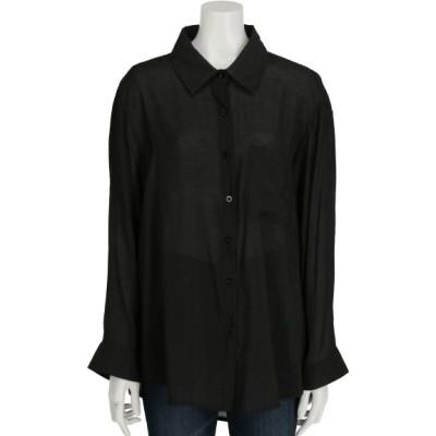 aurea (アウレア) レディース 透け感シンプルシャツ ブラック F