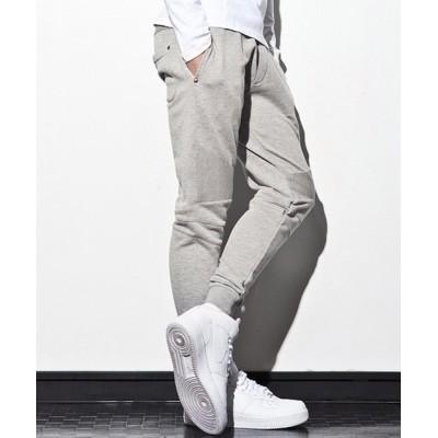 【シフォン】 1PIU1UGUALE3 RELAX(ウノピゥウノウグァーレトレ) バイカースウェットジョガーパンツ メンズ グレー M SHIFFON
