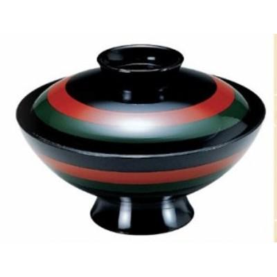 お椀 蓋付き 4寸 耐熱 小槌吸物椀 二色歌舞伎 耐熱ABS樹脂 食器洗浄機対応 f6-238-11