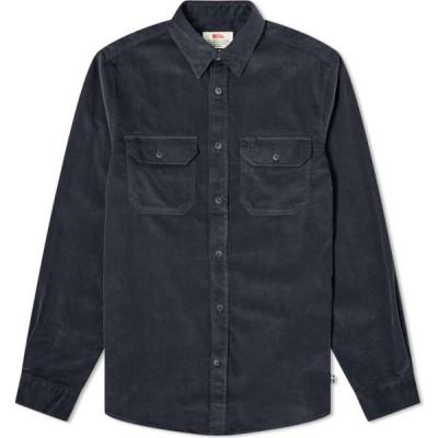 フェールラーベン Fjallraven メンズ シャツ トップス Ovik Cord Shirt Dark Navy