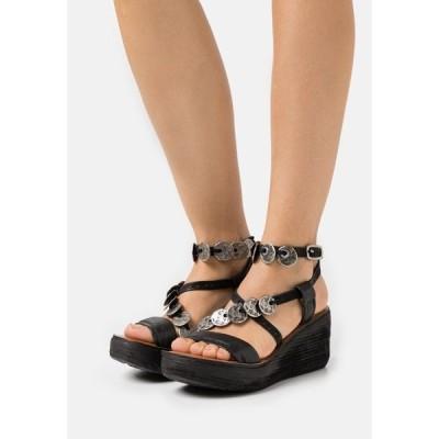 エーエス98 サンダル レディース シューズ Platform sandals - nero