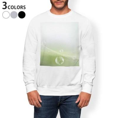 トレーナー メンズ 長袖 ホワイト グレー ブラック XS S M L XL 2XL sweatshirt trainer 裏起毛 スウェット しゃぼん玉 緑 001802