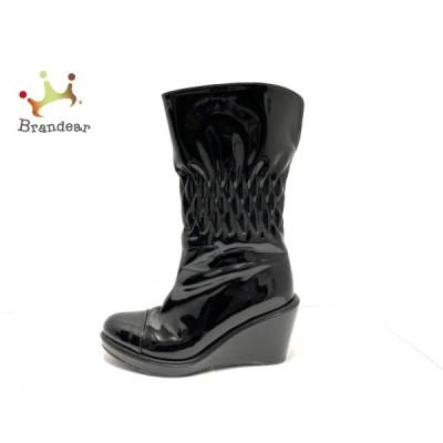 ダイアナ DIANA レインブーツ レディース - 黒 ウェッジソール PVC(塩化ビニール) 新着 20201125