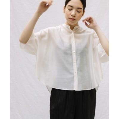 シャツ ブラウス 【Liyoca】シャイニーローンオーバーシャツ