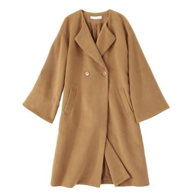 大きいサイズ ノーカラーワイドスリーブコート ,スマイルランド, コート, plus size coat