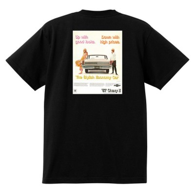 アドバタイジング シボレー ノバ1967 Tシャツ 033 黒 アメ車ホットロッドローライダー 広告アドバタイズメント