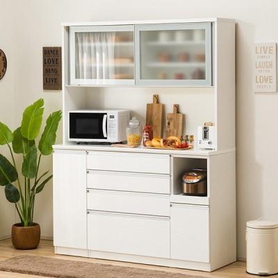 食器棚(レジューム 150AG-S WH/150SH-R WH) ニトリ 『配送員設置』 『5年保証』