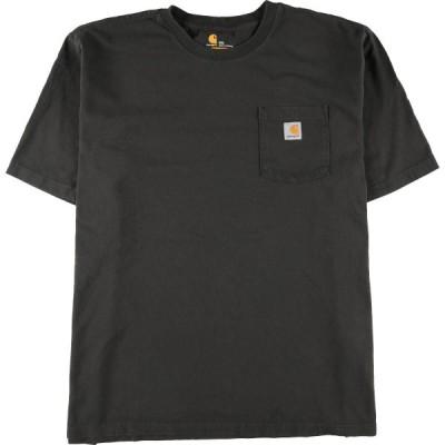 ビッグサイズ カーハート Carhartt ORIGINAL FIT ワンポイントロゴポケットTシャツ メンズXXXL /eaa148936