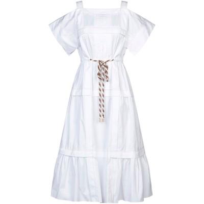 ピーター・ピロット PETER PILOTTO 7分丈ワンピース・ドレス ホワイト 8 コットン 100% 7分丈ワンピース・ドレス