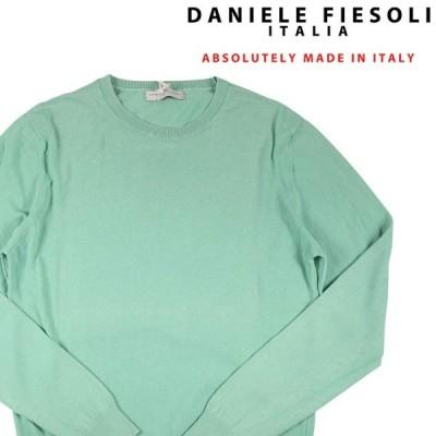 【XXL】 DANIELE FIESOLI ダニエレフィエゾーリ 丸首セーター メンズ 春夏 グリーン 緑 並行輸入品 ニット 大きいサイズ