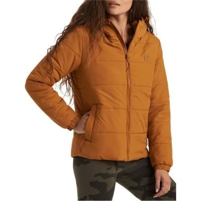 ビラボン BILLABONG レディース ダウン・中綿ジャケット フード アウター Transport Hooded Water Repellent Puffer Jacket Inca Gold