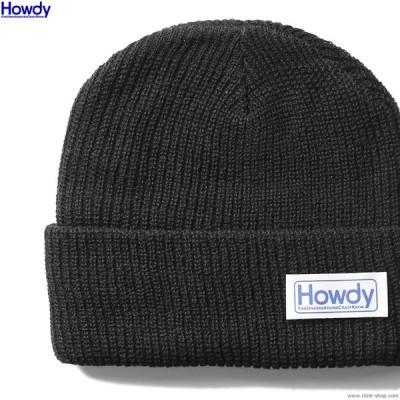 ハウディ Howdy Name Beanie 2 (BLACK) [HWD2003-CP01] メンズ ヘッドギア ニットキャップ ビーニー ブラック