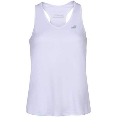 Babolat レディース プレイ テニス Tank Top, ホワイト/ホワイト (US サイズ Small)(海外取寄せ品)
