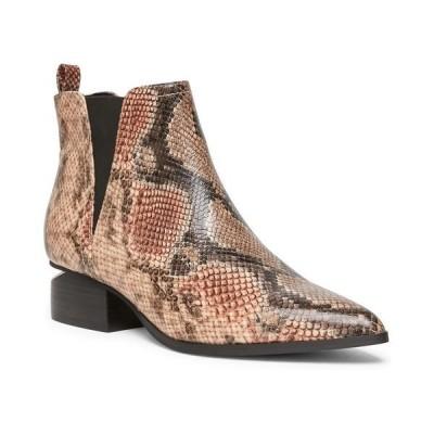 スティーブン ニューヨーク ブーツ&レインブーツ シューズ レディース Women's Radical Ankle Booties Tan Snake Multi
