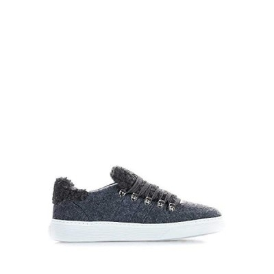 Hogan Luxury Fashion Woman HXW3650BY60LNN054U Grey Fabric Sneakers | Season Permanent 並行輸入品