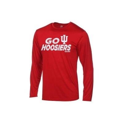 アウタースタッフ カレッジ スポーツ NCAA アメリカ USA 大学 Indiana Hoosiers ユース Crimson DriTek 長袖 Game Time Tシャツ