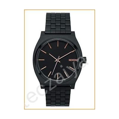 Nixon Time Teller Black/Rose Gold Women's Watch (37mm. Rose Gold/Black Face & Black Metal Band)並行輸入品