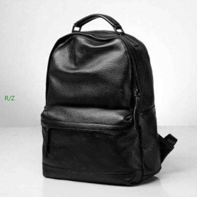 本革レザーメンズデイパックリュックサック男性用ビジネスバッグ通勤旅行バッグ大容量バッグ 実物写真 本革保証 メンズ レザー人気新作パ