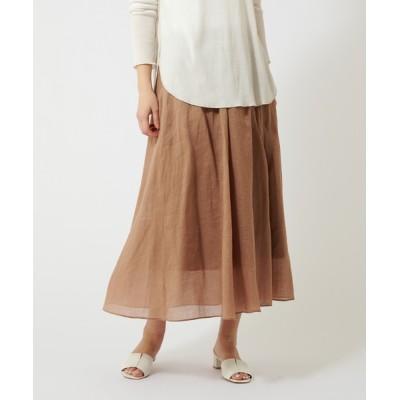 COLLAGE GALLARDAGALANTE / ラミーロングサマーリネンフレアスカート WOMEN スカート > スカート