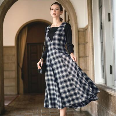 ファッション スカート ジャンパースカート チェック柄 ジャンパースカート 213201