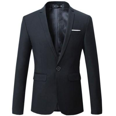 ビジネス ジャケット メンズ 1つボタン スーツ ジャケット フォーマル カジュアル 通勤 入学祝 卒業式 新生活 父の日 春 夏 秋