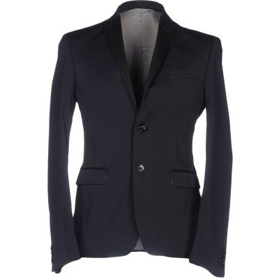 MARCIANO テーラードジャケット ダークブルー 46 ポリエステル 51% / コットン 46% / ポリウレタン 3% テーラードジャケット
