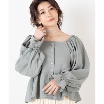 シャツ ブラウス WEGO/【2点セット】スカーフ付きシャーリング2WAYブラウス