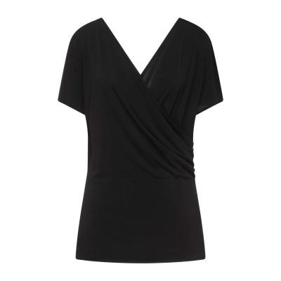 バイ・マレーネ・ビルガー BY MALENE BIRGER T シャツ ブラック L ポリエステル 96% / ポリウレタン 4% T シャツ