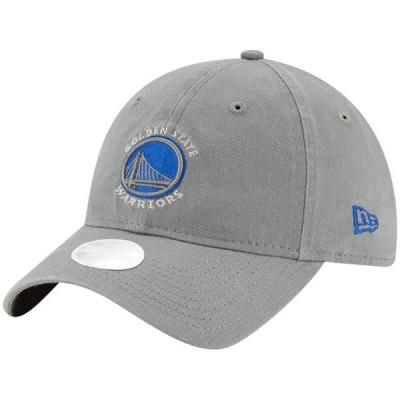 レディース スポーツリーグ バスケットボール Golden State Warriors New Era Women's Core Classic 9TWENTY Adjustable Hat - Gray - OSF