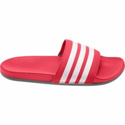 アディダス adidas メンズ サンダル シューズ・靴 Adilette CloudFoam Plus Slides Scarlet/White