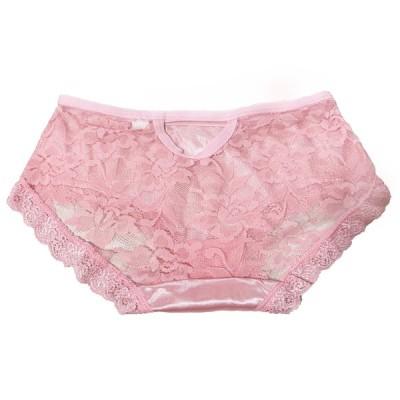 レディース ショーツ レース サテン 花柄 ピンク ベージュ 柔らかい 可愛い  女性下着   着心地抜群 フィット 上品 優雅 オシャレ