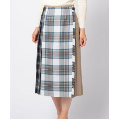 SCAPA/スキャパ ロキャロンタータンスカート ブルー 40