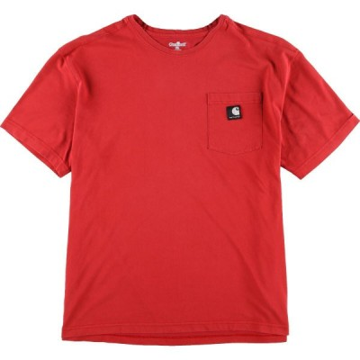 カーハート ワンポイントロゴポケットTシャツ XL /eaa040631