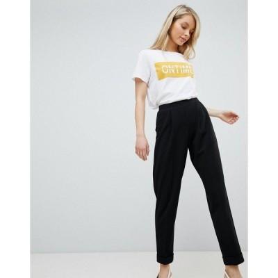 ミスセルフフリッジ レディース カジュアルパンツ ボトムス Miss Selfridge Turn Up Tapered Pants Black