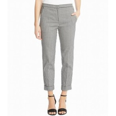 Karen Kane カレンケーン ファッション パンツ Karen Kane Womens Pants Black White Size 4 Capri Plaid Cuff Stretch