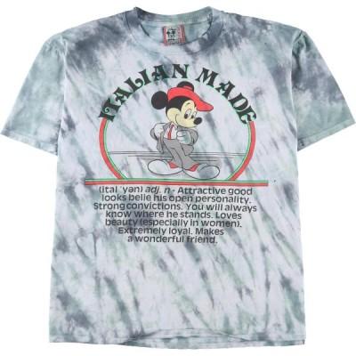 タイダイ加工 ディズニー Disney DESIGNS MICKEY MOUSE ミッキーマウス キャラクタープリントTシャツ USA製 フリーサイズ /eaa148086