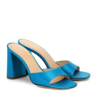 バイ ファー By Far レディース サンダル・ミュール シューズ・靴 Juju satin sandals Electric Blue