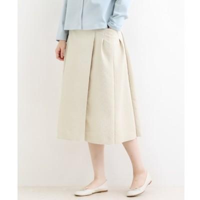 【ニーム/NIMES】 La petite maison タック切替スカート(マトラッセ)