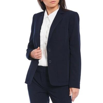 トミー ヒルフィガー レディース ジャケット&ブルゾン アウター Stretch Woven Suiting Two-Button Jacket Midnight