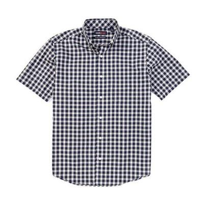 ラウンドトゥリーアンドヨーク メンズ シャツ トップス TravelSmart Short-Sleeve Suiting Plaid Sportshirt