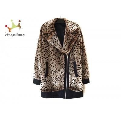 ノイジーメイ NOISY MAY コート サイズS レディース ベージュ×黒×ブラウン 豹柄/冬物   スペシャル特価 20210206