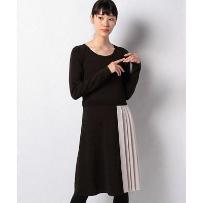 <MISS J(Women)/ミスジェイ> ハノン ニットプリーツドレス チャイロ【三越伊勢丹/公式】